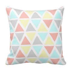 Colorful Pastel Geometric Decorative Pillow