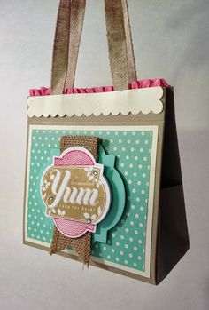 Handmade Gift Bag with Mason Jar Labels, link to tutorial