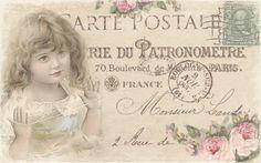 JanetK.Design Free digital vintage stuff: Postcards