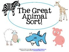 The Great Animal Sort!- Pinned by @PediaStaff – Please Visit  ht.ly/63sNt for all our pediatric therapy pins