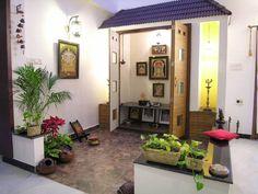 pooja room : Modern dining room by Ansari and Associates