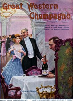 Kittyinva: 1915 Great Western champagne ad. Happy New Year!