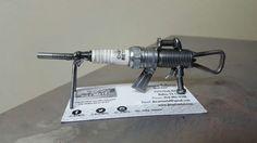 Recycled Scrap Metal Sculpture Mini Gun Spark by JbsArtametal87