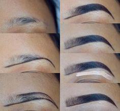 53 Ideas For Makeup Tutorial Brows Make Up – – Eyebrows World Eyebrow Makeup Tips, Contour Makeup, Skin Makeup, Eyeshadow Makeup, Makeup Eyebrows, Makeup Tricks, Eye Brows, Eyebrow Pencil, Makeup Tutorials