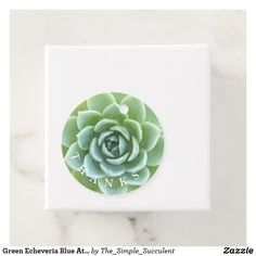 Green Echeveria Blue Atol Favor Tags  #Succulent #favor #tags #thanks