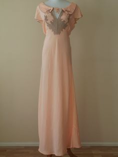 1930s Apricot Nightgown