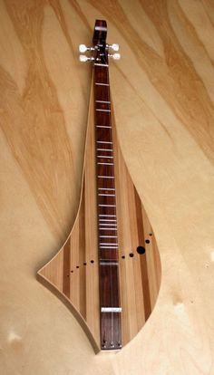 Dulcimer - full view - non-traditional shape for a mountain dulcimer.