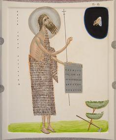 sv Jovan 5 ostro.  St John the Baptist, by Todor Mitrovic.