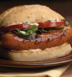 Artisan Bread with Grilled al fresco® Buffalo Style Chicken Sausage