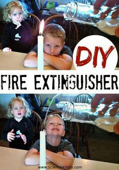 DIY Fire Extinguisher Science Experiment for Kids! A twist on a classic science experiment, this is sure to amaze and dazzle the kiddos!