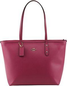 Coach Cross Grain Leather City Zip Tote Bag Purse