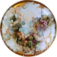 19th Century Exceptionally Large Hand-painted Limoges Porcelain Tray or Serving Dish by Charles Field Haviland and Gérard, Dufraisseix et Morel