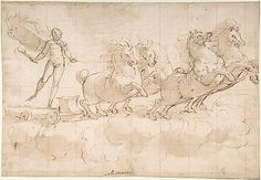 The Chariot of the Rising Sun.  Luca Cambiaso  (Italian, Moneglia 1527–1585 Madrid)