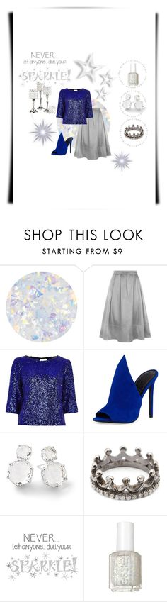 """""""Blue Sparkle"""" by miracle-child-1 ❤ liked on Polyvore featuring Essie, HotSquash, River Island, Kendall + Kylie, Ippolita, Loree Rodkin, Wall Pops! and Leeber Limited"""