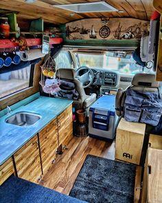 Van Life Interview with John and Jayme - Camping Truck Camper, Diy Camper, Van Interior, Camper Interior, Interior Ideas, Minivan, T3 Vw, Camper Van Life, Van Dwelling