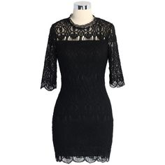 Chicwish Baroque Full Lace Shift Dress in Black ($29) ❤ liked on Polyvore featuring dresses, black, lace shift dress, crochet dress, lace dress, lace trim dress and lacy dress