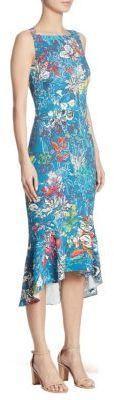 Peter Pilotto Stretch Floral-Print Dress