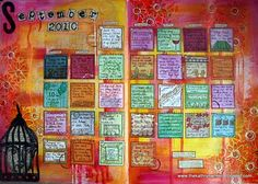 another idea for art journal page- calendar