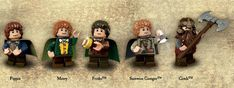 Awesome! LOTR Lego Minifigures! One can only assume that there might be a LEGO LOTR game in the future! AHHHHH!!!