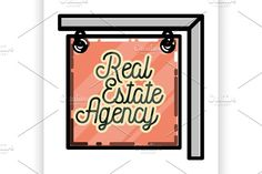 real estate agency emblem by Netkoff on @creativemarket