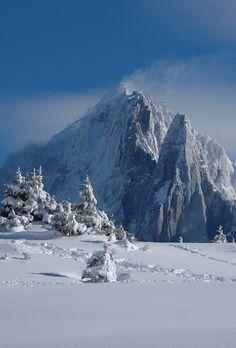 Winter in Chamonix Mont-Blanc, Alps, France | Hiver a Chamonix, Vue sur Les Drus (3754m) et L'Aiguille Verte (4122m)