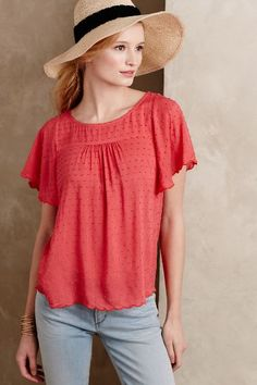 Keme Dotted Tee - anthropologie.com