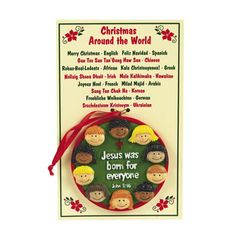 Christmas Around The World Ornaments With Card Party Decorations