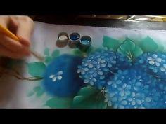 Fábio Marques - Pintando hortênsias - painting hydrangeas - покраска гортензии - YouTube