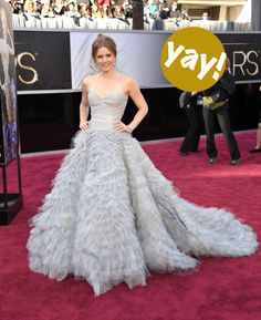 amy adams oscars 2013 oscar de la renta mom to mom talk stylist franzy staedter