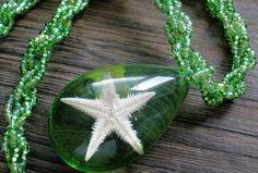 Green Starfish Handmade Jewellery, Starfish, Necklaces, Green, Jewelry, Art, Art Background, Handmade Jewelry, Jewlery