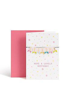 Grandma Bunting Style Birthday Card