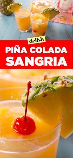 Piña Colada Sangria Is The Best Big-Batch Boozy Punch