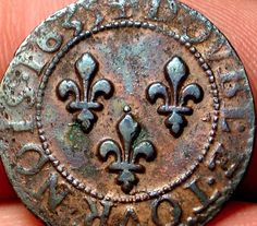 EARLY OLD CANADIAN COIN 1635 NEW FRANCE COLONIAL RARE CANADA! A64 ... Canadian Coins, Canadian History, Samuel De Champlain, Meanwhile In Canada, Quebec, Euro Coins, Fur Trade, Primitive Survival, Antique Coins