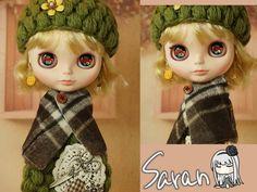 Saran Custom Blythe  Buy her here:   #blythe #blythedolls #kawaii #cute #rinkya #japan #collectibles #neoblythe #customblythe