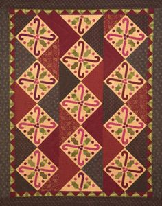 """""""Candy Cane Zig Zag"""" quilt from Be Merry: Quilts and Projects for your Holiday Home"""