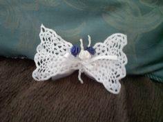 farfalla segnaposto uncinetto inamidata