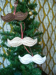 felt mustache ornament