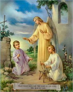 """O Anjo de Portugal não se atém em conversas supérfluas ou que o afastem de sua missão; chega ensinando: """"Meu Deus, eu creio, adoro, espero e vos amo"""". Ele leva os pastorzinhos à adoração."""
