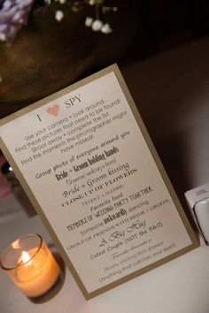 I spy sign. Give guests things to photograph
