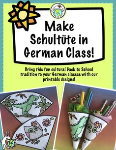 Schultüte Baseln German Back to School Culture Tradition - AllWorldLanguages First Day Of School, Back To School, Around The World Crafts For Kids, Germany For Kids, German Resources, September Crafts, International Craft, Cultural Crafts, New Years Traditions