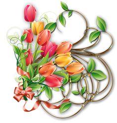Velikonoční dekorace kytičková | ve-aronky Borders And Frames, Floral Border, Flower Decorations, Photos, Creations, Clip Art, Vegetables, Blog, Yandex