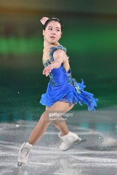 Akiko Suzuki of Japan performs her routine during the NHK Special Figure Skating Exhibition at the Morioka Ice Arena on January 9, 2016 in Morioka, Japan.