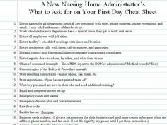 What A New Nursing Home Administrator Should Ask For On The First Day