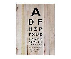 Impresión de madera de pino Óptica, natural - 45x60 cm