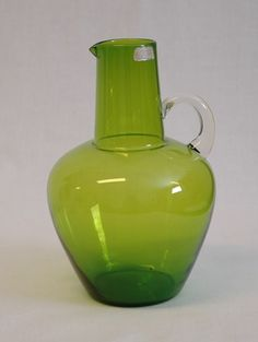 Glass jug from  Randsfjord Glassverk AS, DigitaltMuseum