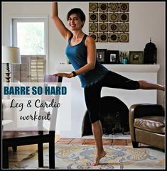 A barre blast workout to share with you! It emphasizes lower body muscular endurance (lots of reps!) with an inner thigh and glute emphasis. There are cardio blasts in between the segments to increase your heart rate and torch wicked calories. I highly recommend completing the video twice through (once on the left side, again on the right side), which will only take 17 minutes out of your day! | Barre Workouts | The Fitnessista | Quick Workout At Home, Workout Routines For Women, Gym Workouts Women, Fitness Workout For Women, Workout Schedule, Leg Workouts, Barre Fitness, Leg Exercises, Training Workouts
