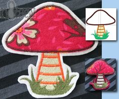 Freebie Embroidery mushroom / application