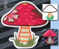 Freebie Embroidery mushroom / application