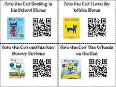 Pete the Cat Instant Listening Center using QR Codes Kindergarten Listening Center, Daily 5 Kindergarten, Listening Centers, Listening Station, Preschool Literacy, Reading Centers, Reading Fluency, Reading Workshop, First Grade Reading