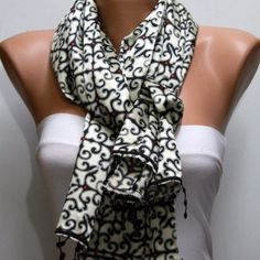 Black Shawl Scarf  - by fatwoman, $19.00